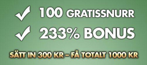 Spela casino och vinn + Onsdagsraketen med 80 gratissnurr extra